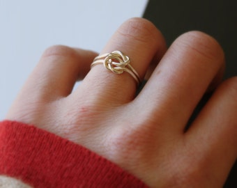 Hitched//Double Knot Ring//Argentium Sterling Silver//Handcrafted