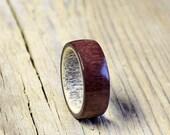 Antler men ring amaranth wood  ring unisex ring