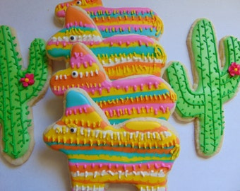 12 Pinata's and Cactus Cookies