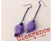 CLEARANCE Lavendar Droplet Earrings