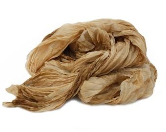 brown silk scarf - Sand of Egypt - beige, light brown, caramel silk scarf.
