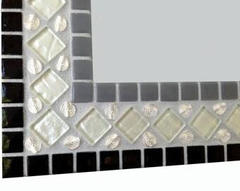Mirror Mosaic Wall Art colorful mosaic mirror // large wall mirror // red green