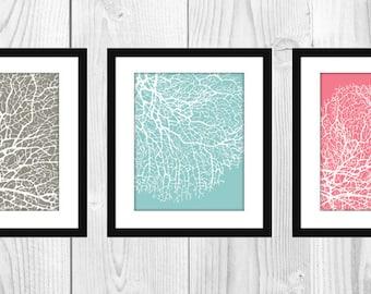 "Pastel Coral Artwork Decor, 8x10"" Printable"