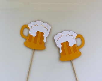 2 Photobooth Beer Mug Props / Butter Beer Photo Booth Props, Harry Potter Party, Birthday Party