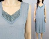 90's MINIMALIST Dress Vintage Slip 80's Dress Vintage Minimalist 90's Dress Lace Dress Maxi Dress Slouchy Dress Sheer Dress Small Medium