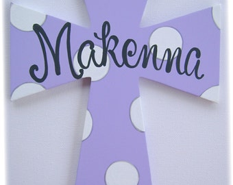 Painted personalized wooden wall cross baptism cross baby gift christening baptism gift child's cross