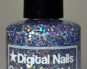 Cuckoo for Kaku, an iridescent glitter topper inspired by Doctor Michio Kaku and string theory by Digital Nails