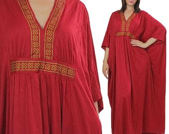 Alfred Shaheen Dress 70s Boho Maxi Dress Designer Dress Boho dress Hippie dress Grecian Dress Goddess Dress Caftan Dress Hawaiian Dress M