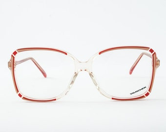 Vintage 90s Oversized Square Red and Gold Tone Frames