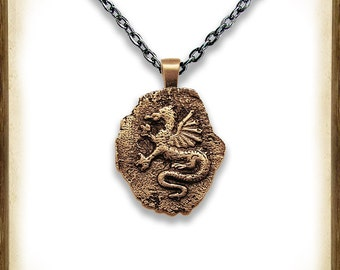 Dragon wax seal pendant