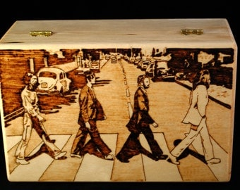 The Beatles - Abbey Road - Woodburned Box