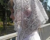 Light Pink chapel veil for girls. Product # Zp01