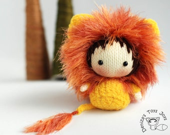 Shaggy Lion Doll. Toy from the Tanoshi series. - knitting pattern (knitted round)