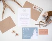 Ranch Custom Wedding Invitation Suite - Deposit