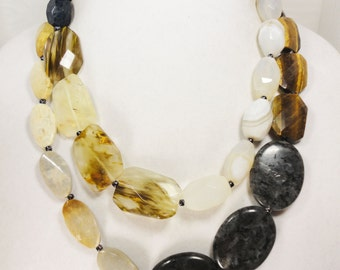 Double Strand Gemstone Necklace