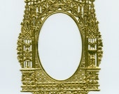 DRESDEN FRAME, Gold Dresden Frame, Dresdens, Gold Foil Paper Frame, Gothic Paper Frame, Victorian Paper Frame, Dresden Altar, Die Cut Frame