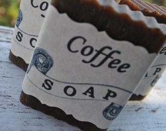 Natural Coffee Soap Unscented, Exfoliating Soap, Handmade Just For You