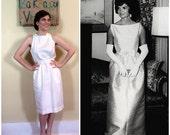 Vintage Jackie O Wedding Reception Wiggle Dress