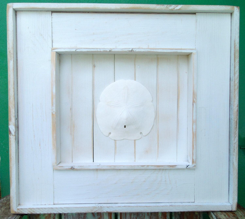 Beach Decor / Extra Large Shadow Box Frame with Sand dollar