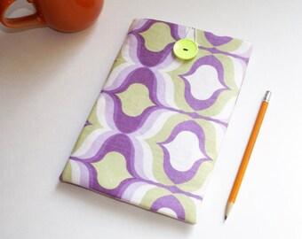 Purple, Green and White Geometric Print - Kindle, ipad Mini, Nexus 5 Sleeve