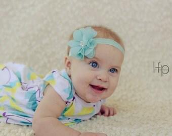 Pick any color, baby headbands, newborn headband, baby hair bow,  infant headband, spring colors, baby accessories, Flower headband, Bow