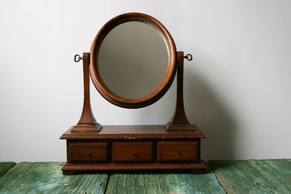 antique italian tabletop vanity mirror 87963