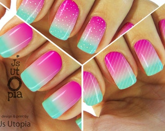 Candy Gradient Full Nail Sticker / Nail Wrap (6 options)