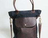 tote bag gym bag school bag laptop bag waxed canvas leather  The Weekender