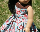 """Two Toned Cherry Blossom Dress for 18"""" Dolls **SALE**"""
