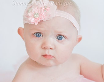 Headband, Light Pink Headband,  Baby Headband,  Headband, Infant Headband, Newborn Headband, Pale Pink Headband
