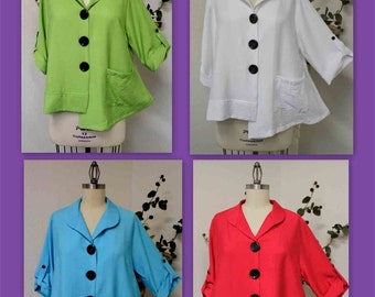 Captivating Cutie with details. New Plus size Blouse. Large, XL and 1XL
