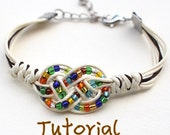 eBook (Feliz) - Tutorial to Chinese knot bracelet Friendship Bracelet/Wish Bracelet-Instant download Pattern- FREE SHIPPING