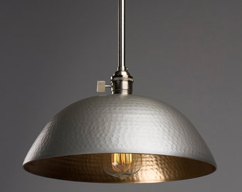 hammered gold brushed nickel pendant light fixture pendant kitchen light light fixture pendant light hammered shade large beach house kitchen nickel oversized pendant