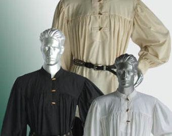 Medieval farmer 100% natural cotton Shirt Handmade Men LARP Clothing