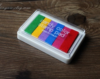 Big Size Candy Color Stamp Pad - Stamp Ink Pad - Stamp Pad - Finger Painting Inkpad - Coloful
