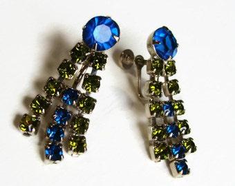 60's Rhinestone Earrings Drops