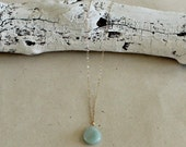 Blue Green Teardrop Penda...