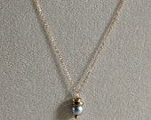 Gray Pearl Necklace-Gray ...