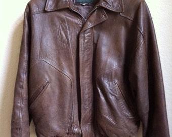 Brown Leather Mens Jacket By Ruggadier
