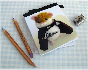 Hamwise Gamgee Hamster Pocket Notebook Samwise LOTR fan gift Illustration Notepad Mini Jotter Pad Lined Paper