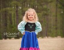 Anna Dress - Anna Costume - Frozen Anna - Princess Anna - Frozen Costume - Frozen Dress - Cotton Anna Dress - Cotton Anna Costume - Anna