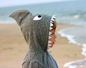 SHARK hoodie : boy girl gift costume sweatshirt