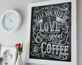 Gift For Mom   Coffee Lover Gift   Coffee Shop Sign   Coffee Sign   All