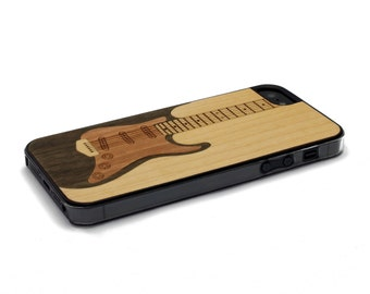 iPhone 5 Case Wood Electric Guitar, Wood iPhone SE Case, iPhone 5S Case Wood
