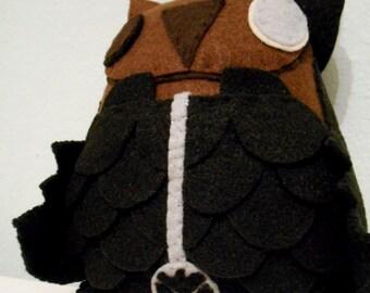 Avengers Director Fury Inspired Owl Plush