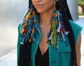 Shredded Ankara Earrings