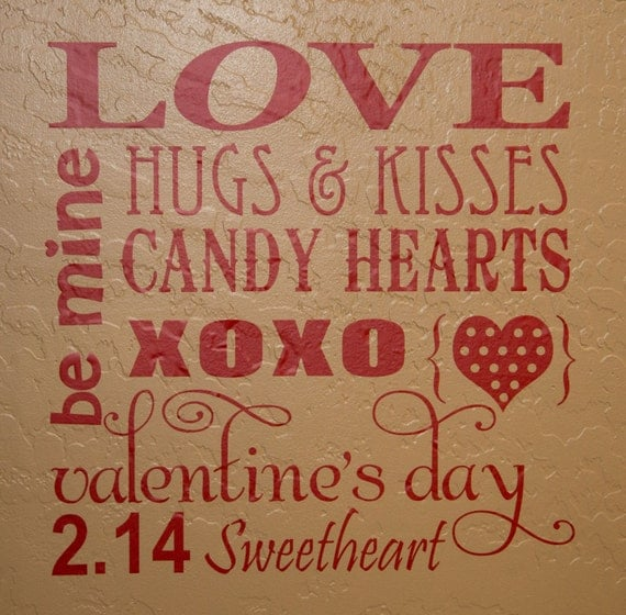 Items Similar To Valentine 39 S Day Vinyl Lettering Subway
