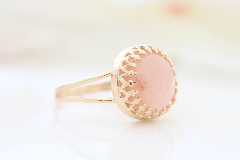 morganite ring gold ring set with a pink morganite gemstone