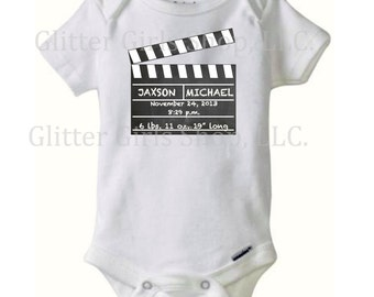 Personalized birth announcement production one piece for boy or girl