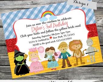 DIY Personalized Invitation: Wizard of Oz Invitation - Digital Invitation by Serendipity Celebrations -You Print -Printable Invite-Dorothy
